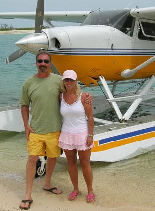 Nicki and Darrell Hoke owners of flamingos nest